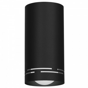 INSERT ROUND stripes black S 8534 Luminex
