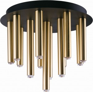 STALACTITE black-brass XIII 9054 Nowodvorski Lighting