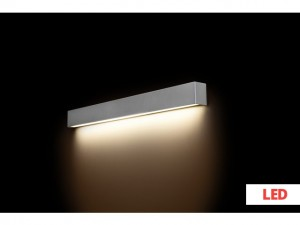 STRAIGHT WALL LED silver M 9614 Nowodvorski Lighting