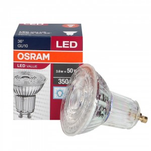 LED GU10 3.6W 6500K 36 OSRAM